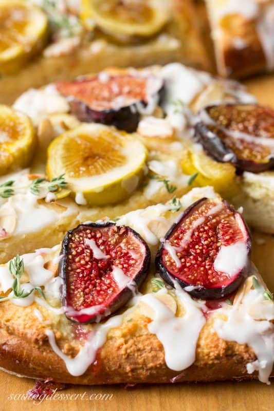 Fig & Goat Cheese Tart with lemon and thyme