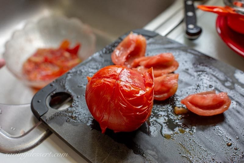 peeled fresh tomatoes