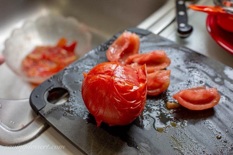 peeled fresh tomatoes