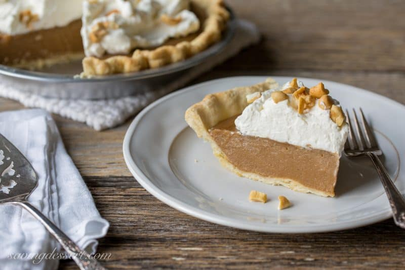 Old Fashioned Butterscotch Pie | www.savingdessert.com