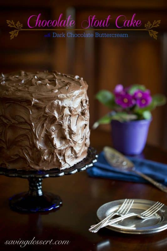 Chocolate Stout Cake with Dark Chocolate Buttercream Frosting