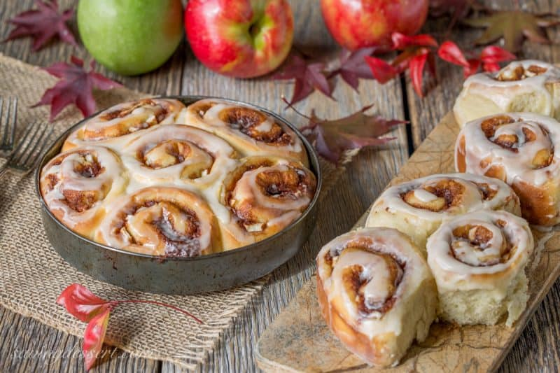 Apple Cinnamon Rolls with an Apple Cider Glaze - not too sweet but great apple flavor!