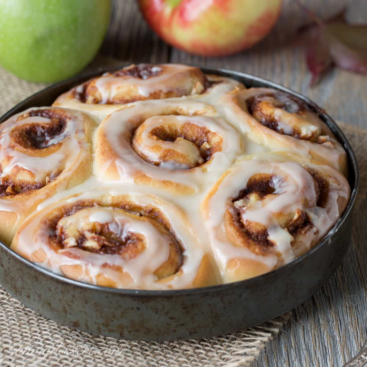 Apple Cinnamon Rolls with an Apple Cider Glaze - not too sweet but ...