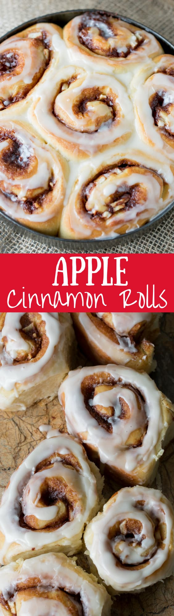 Apple Cinnamon Rolls with an Apple Cider Glaze - not too sweet but great apple flavor!  www.savingdessert.com
