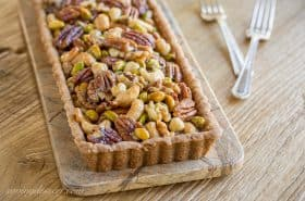 Bourbon Butterscotch Nut Tart-1