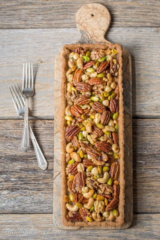 Bourbon & Butterscotch Nut Tart