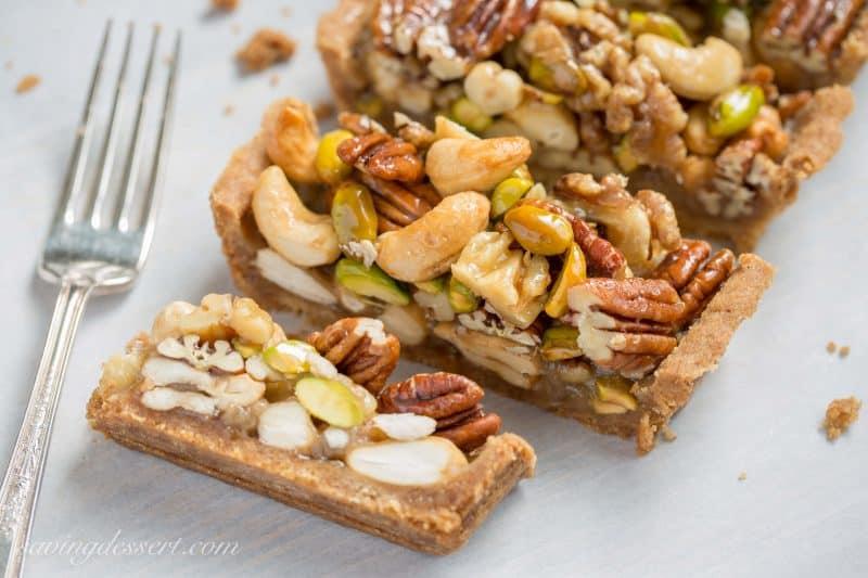 Bourbon & Butterscotch Nut Tart