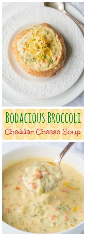 Bodacious Broccoli Cheddar Cheese Soup   www.savingdessert.com