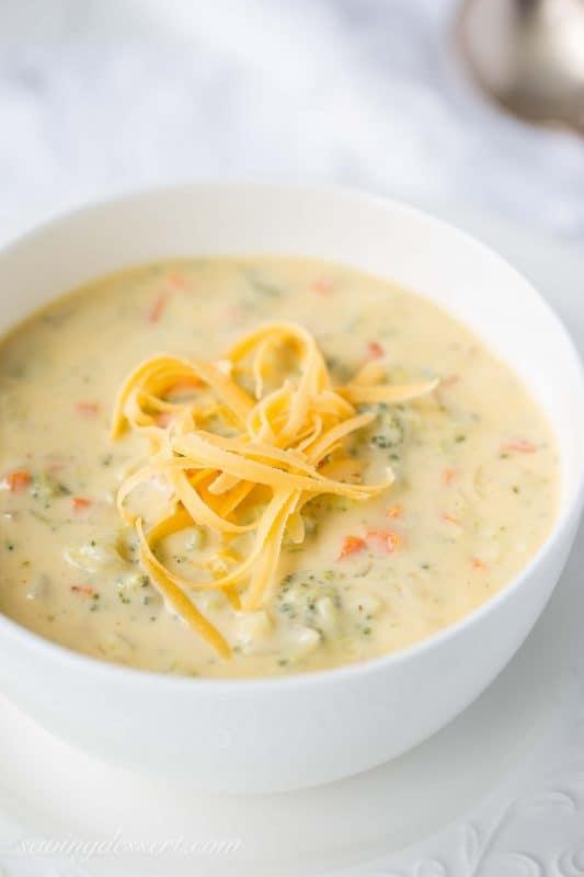 Bodacious Broccoli Cheddar Cheese Soup | www.savingdessert.com