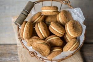 A stack of soft ginger molasses cookies