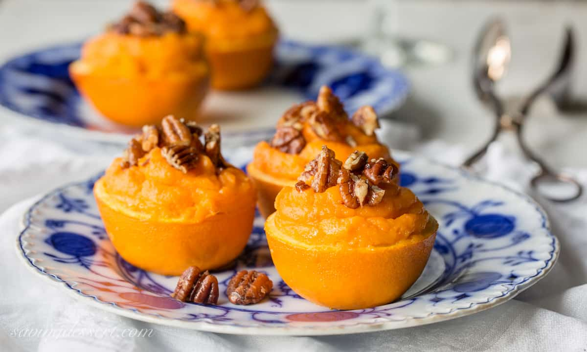 Sweet Potato Soufflé in Orange Cups with Cinnamon Pecans - Saving ...