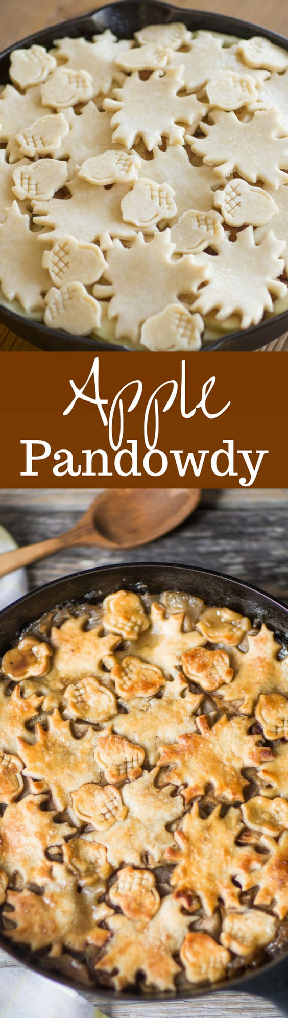 Apple Pandowdy (or Apple Pan Dowdy) - an old-fashioned skillet apple dessert with the crust pressed into the juices part-way through baking.  www.savingdessert.com