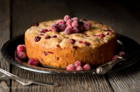 Cranberry Almond Breakfast Cake