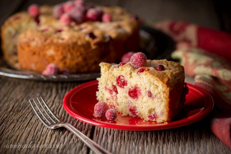 Cranberry Snacking Cake Recipe — Dishmaps