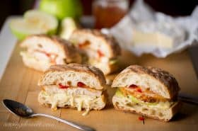 Turkey Apple Cheese & Hot Pepper Jelly Panini-1