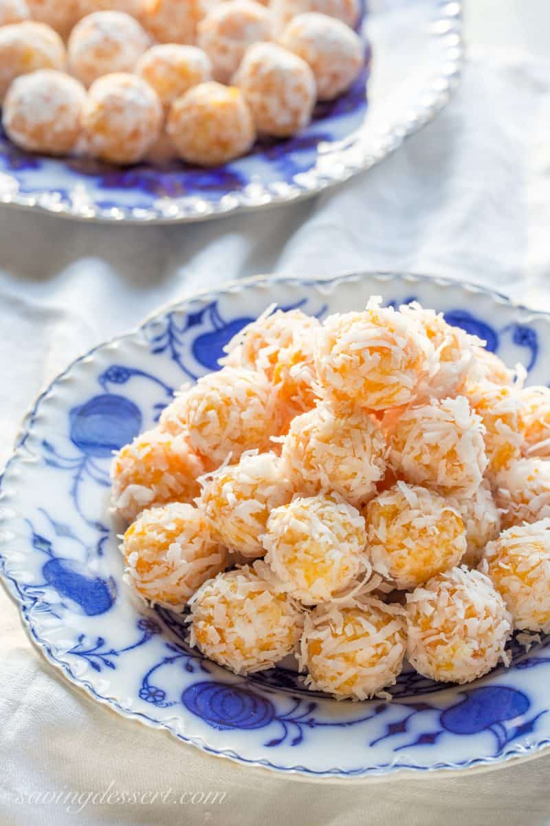 No Bake Coconut Apricot Balls