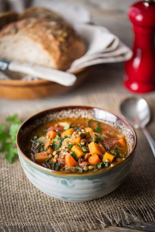 Lentil & Vegetable Soup with Seasonal Greens-1