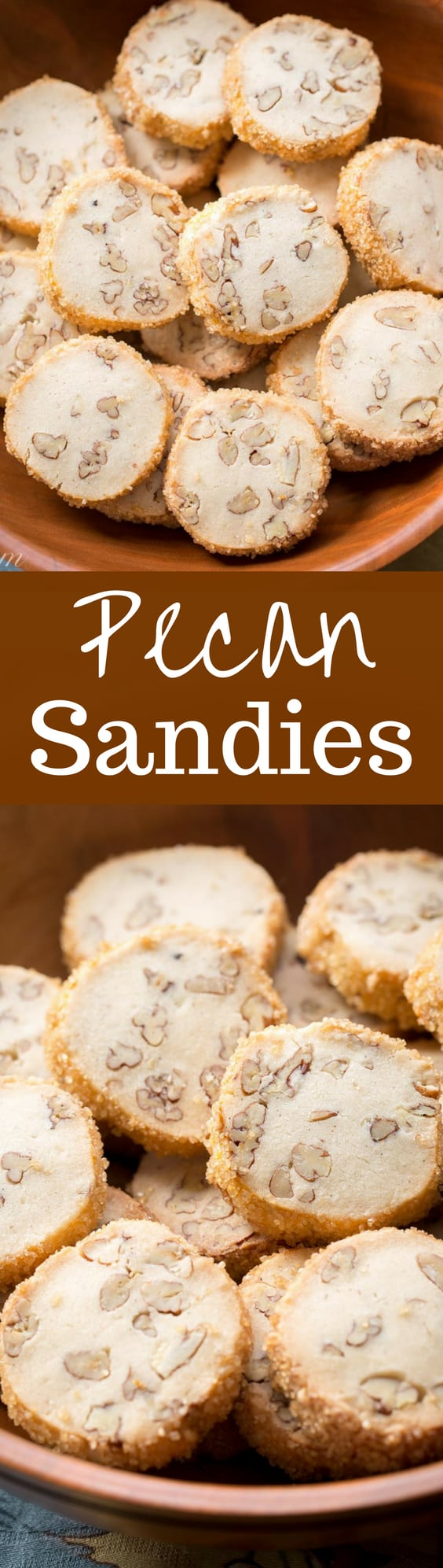 Pecan Sandies ~ Classic shortbread cookies filled with toasted pecans ...