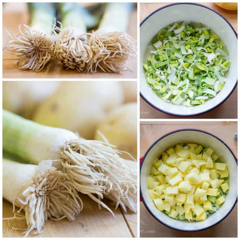 Leek and Potato Soup & homemade croutons