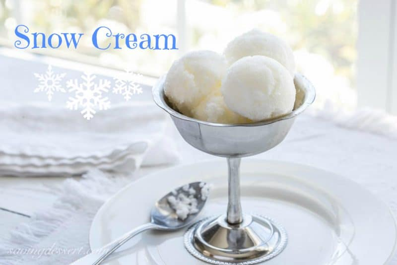 homemade Snow Cream