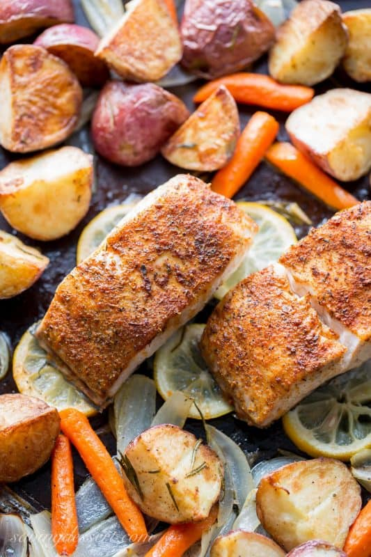 Baked Fish & Vegetables
