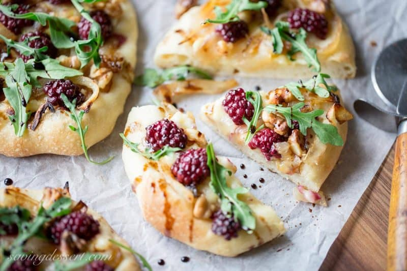 Blackberry & Brie Mini-Pizzas-4