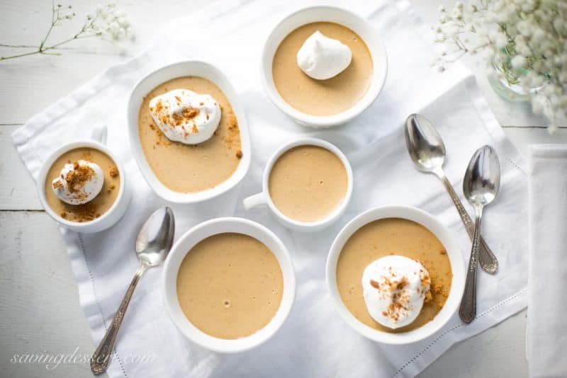 Butterscotch & Bourbon Pudding with Vanilla Bean and Bourbon Spiked Whipped Cream