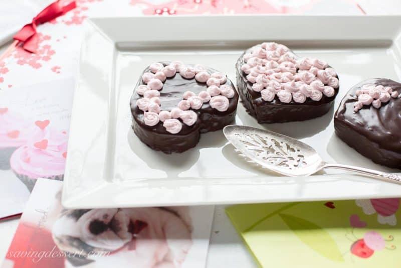 Heart Shaped Chocolate Cakes