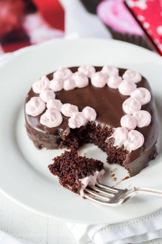 Heart Shaped Chocolate Cakes Saving Room For Dessert