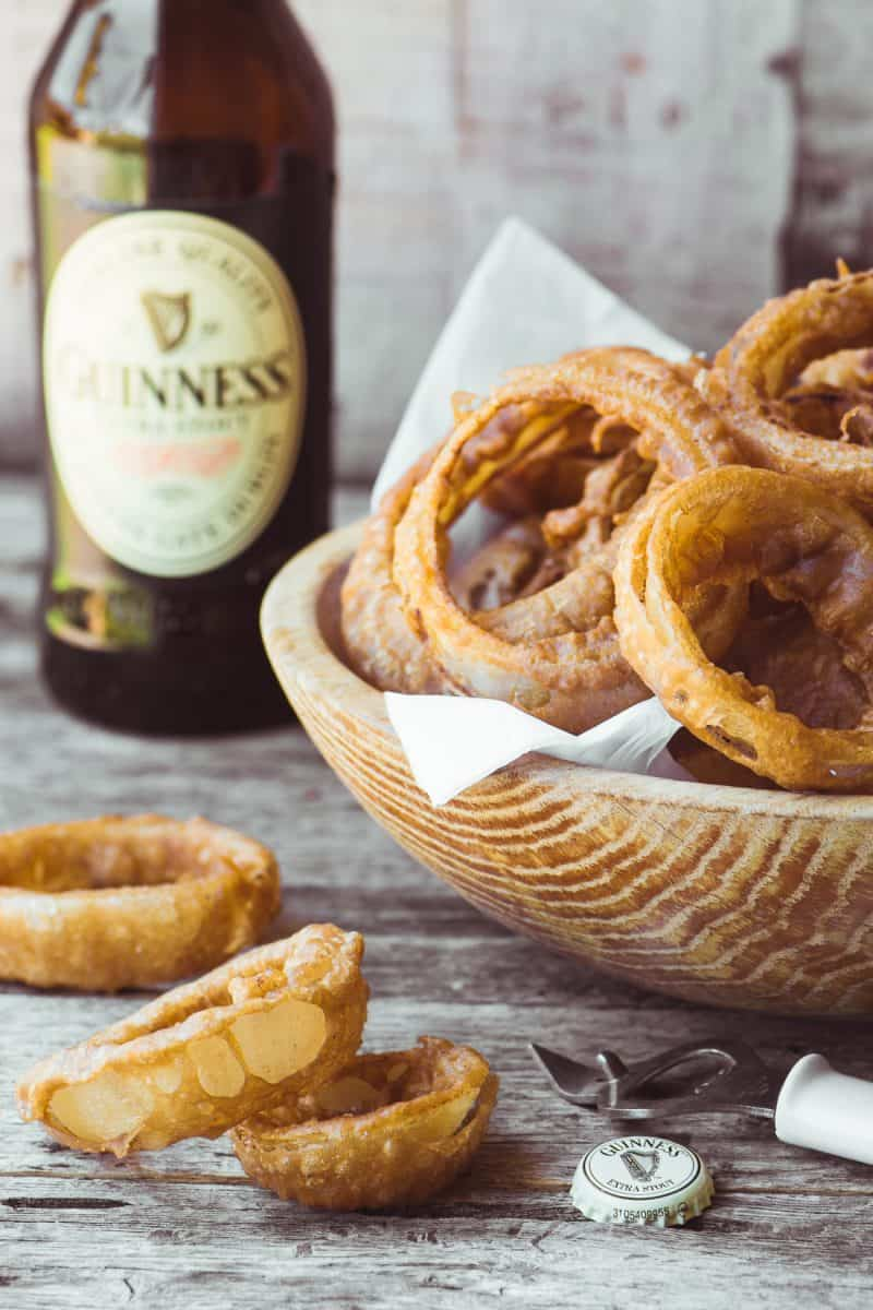 Guinness Battered Onion Rings from The View from Great Island