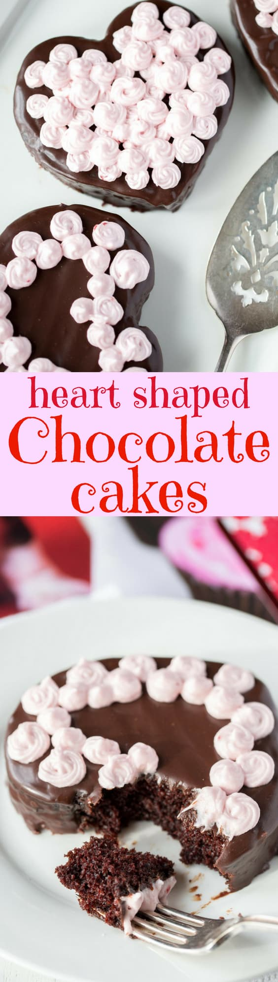 Heart Shaped Chocolate Cake - A deliciously moist chocolate cake that is dairy and egg-free. No mixer required and it's great eaten warm or cold. A truly versatile recipe great baked as a cupcake or in a pan. www.savingdessert.com