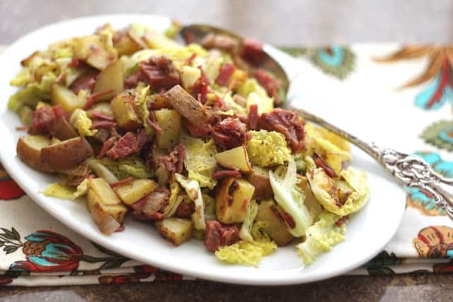 corned beef, cabbage, potato hash