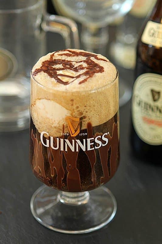 Guinness Float with Irish Cream Ice Cream ~ from Creative Culinary