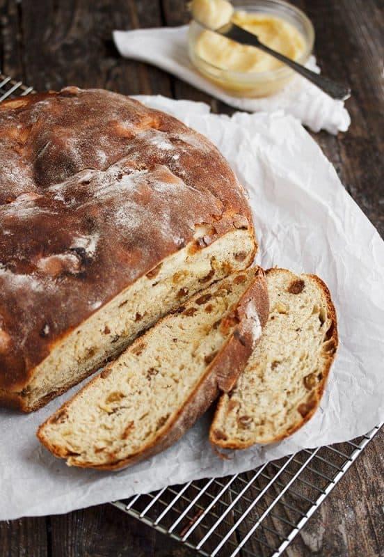 Irish Barmbrack Bread with Honey Butter