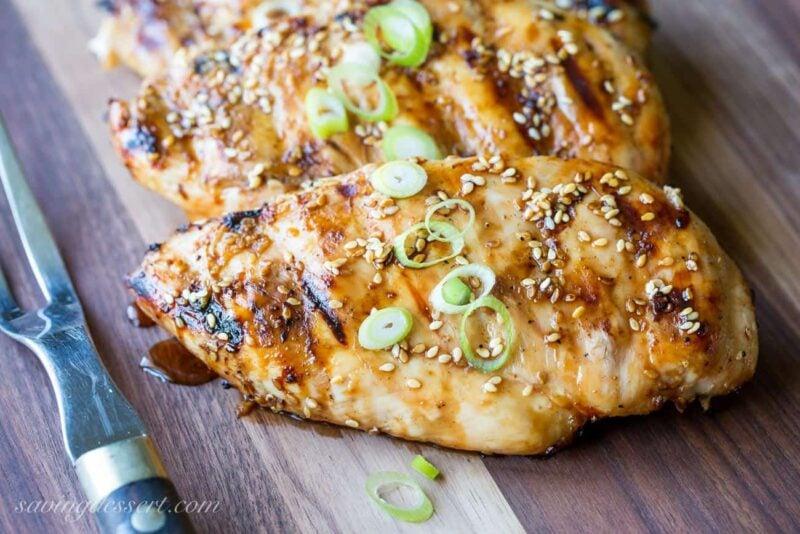 Seasame-Ginger Grilled Chicken