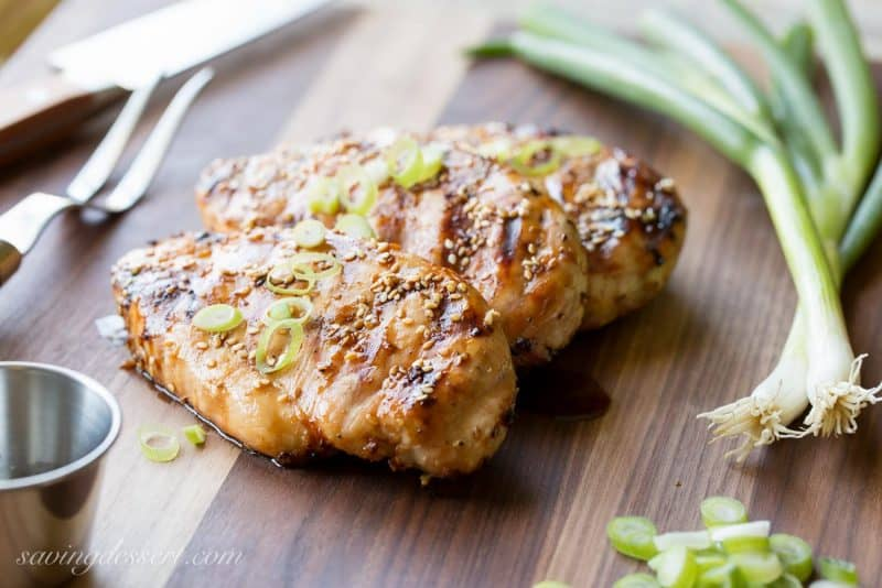 Seasame-Ginger Grilled Chicken