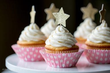 Tender White Cupcakes with Whipped Vanilla Buttercream-4