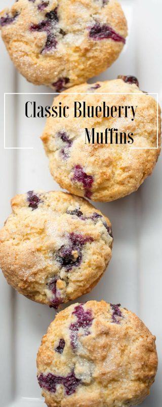 Classic Blueberry Muffins | www.savingdessert.com
