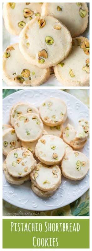 Pistachio Shortbread Cookies - Saving Room for Dessert