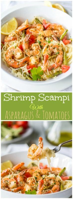 Shrimp Scampi with Asparagus & Tomatoes