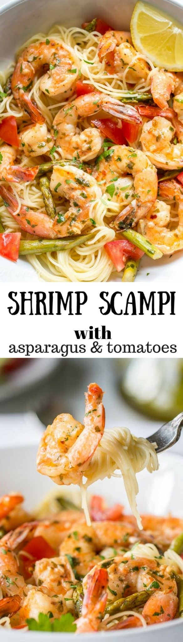 Shrimp Scampi with Asparagus and Tomatoes ~  a wonderful restaurant quality dish you can make at home!    www.savingdessert.com