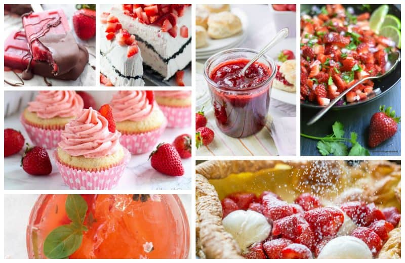 103 Strawberry Recipes - salads, desserts, jams, drinks and main dish recipes