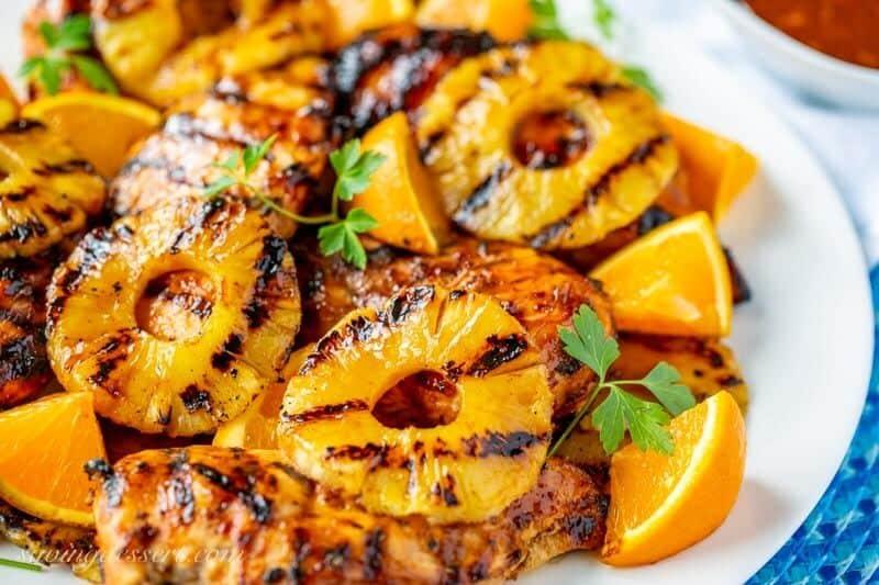 orange BBQ grilled chicken