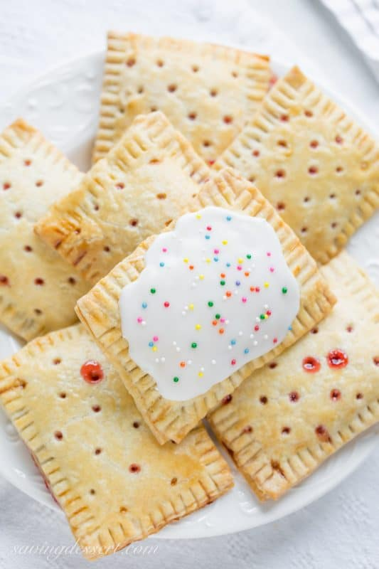 Homemade Strawberry Pop-Tarts ~ from Saving Room for Dessert