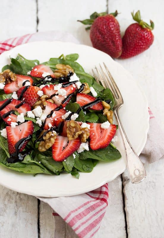 spinach-strawberry