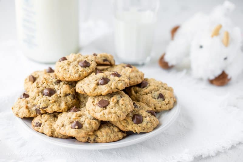 Dark Chocolate Chip Lactation Cookies - homemade cookies that help support breastfeeding