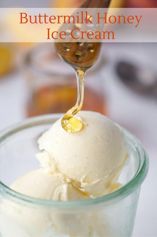 Buttermilk Honey Ice Cream ~ a smooth, tangy ice cream with notes of lemon