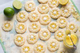 Lemon-Lime Shortbread Thumbprint Cookies