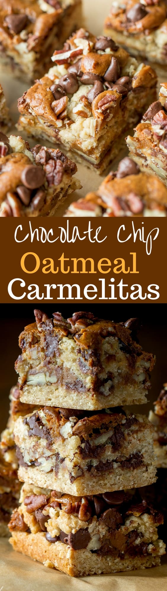 Chocolate Chip Oatmeal Carmelitas - loads of pecans, chocolate chips ...