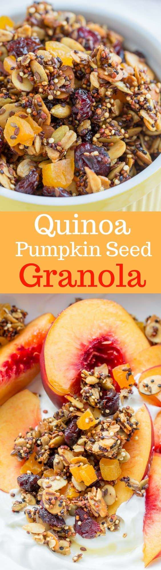 Quinoa-Pumpkin Seed Granola | www.savingdessert.com